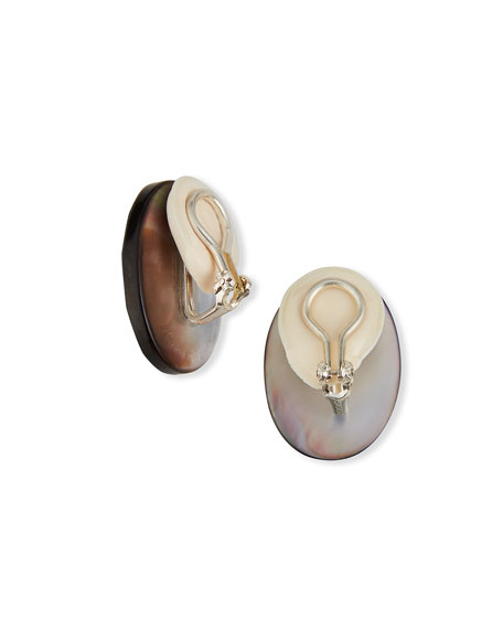 Margo Morrison Abalone Clip-On Earrings
