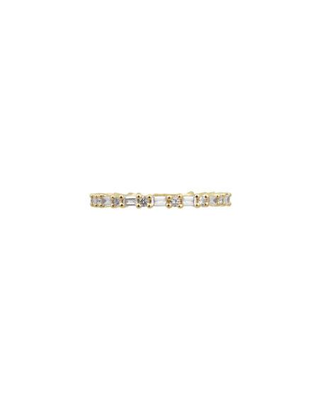 Stevie Wren 14k Diamond Baguette Eternity Ring, Size 7