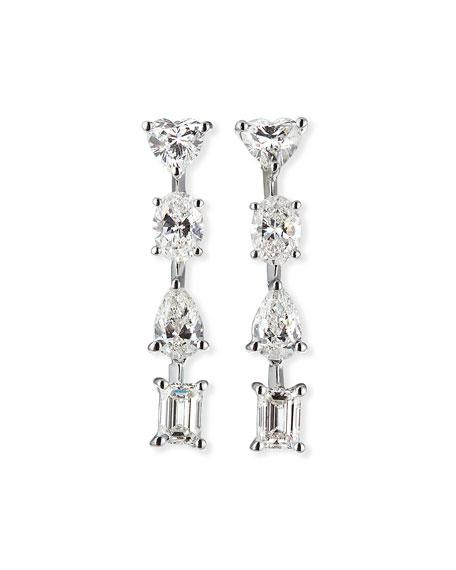 ZYDO Hope 18k White Gold Mixed-Cut 4-Diamond Earrings