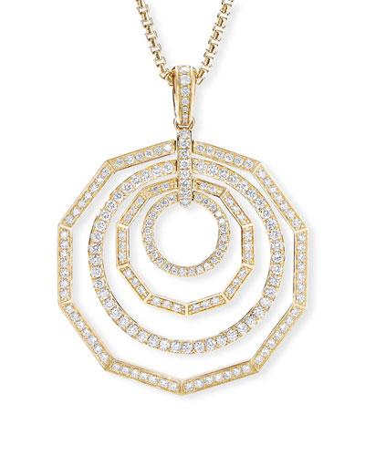 Stax 18k Yellow Gold Diamond 4-Ring Pendant Necklace