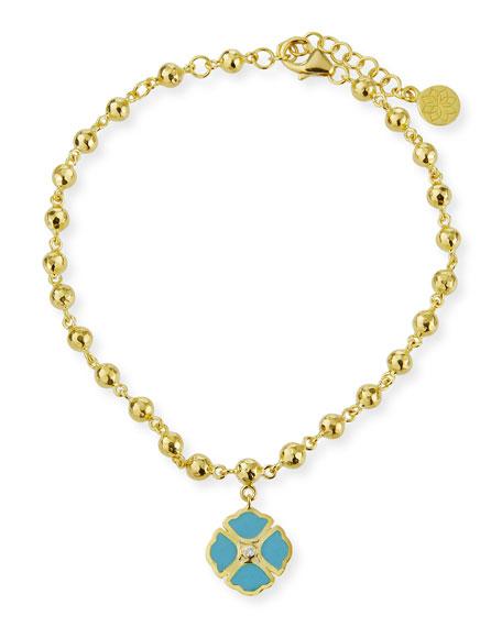 Legend Amrapali 18k Mini Manjari Lotus Charm Bracelet