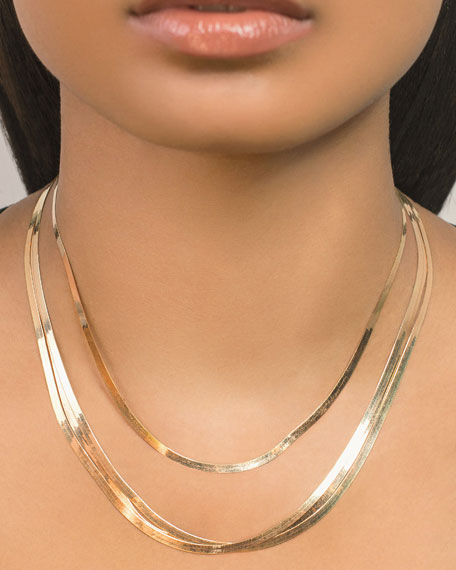 LANA 14k 3mm Liquid Gold 4-Strand Necklace