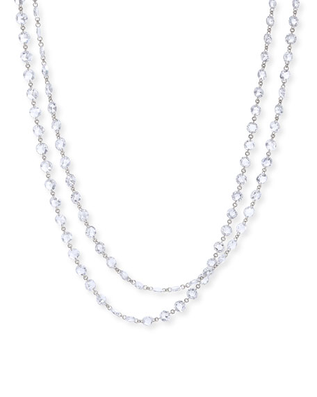 """64 Facets Ethereal Platinum Long Diamond Necklace, 60""""L"""