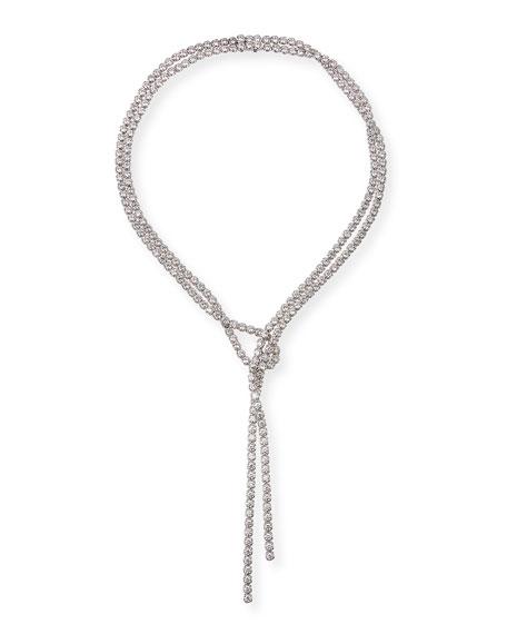 A. Link Lazo 18k White Gold Diamond Lariat Necklace