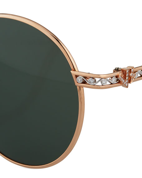 Image 5 of 5: Jack Kelege & Company Limited Edition 14k Rose Gold Diamond Sunglasses