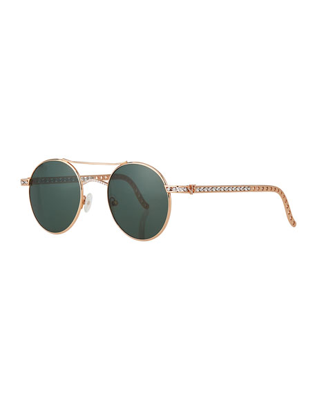 Image 1 of 5: Jack Kelege & Company Limited Edition 14k Rose Gold Diamond Sunglasses