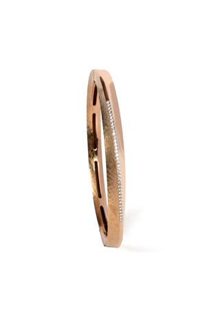Vendorafa 18k Rose Gold Hula Hoop Diamond-Pave Bangle
