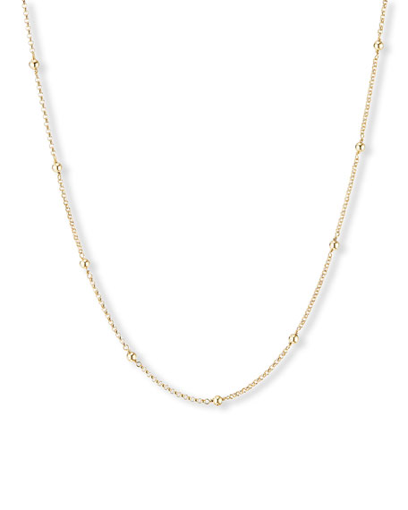 "David Yurman Cable Collectibles 18k Dome Necklace, 36""L"