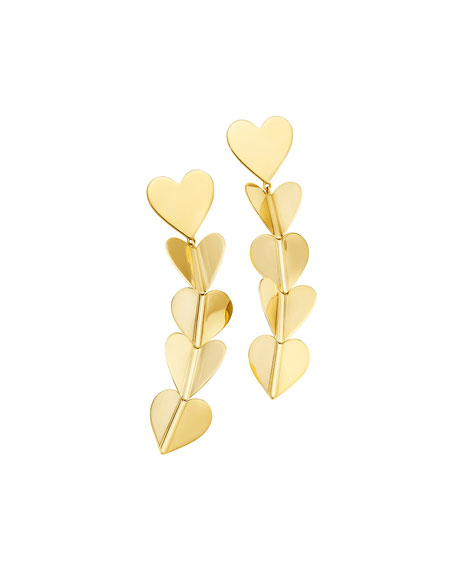 CADAR Wings of Love 18k Large Drop Earrings