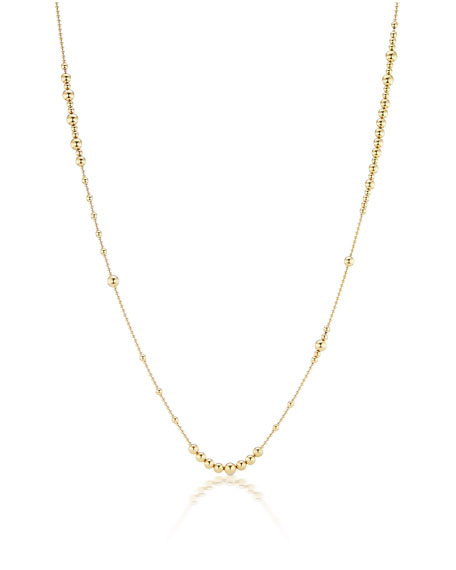 "Maria Canale 18k Multi-Size Ball-Chain Necklace, 36""L"