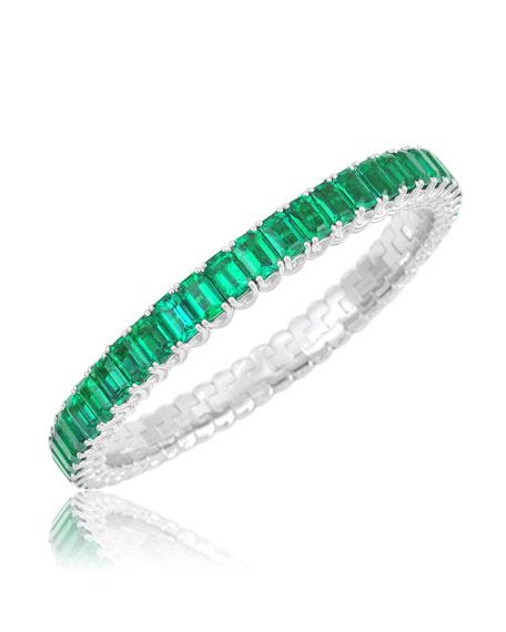 Picchiotti Xpandable 18k White Gold Emerald Bracelet