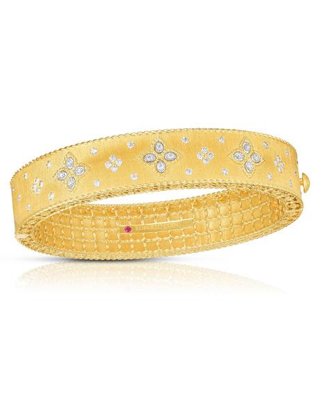 Roberto Coin 18k Gold Venetian Princess Diamond Bangle