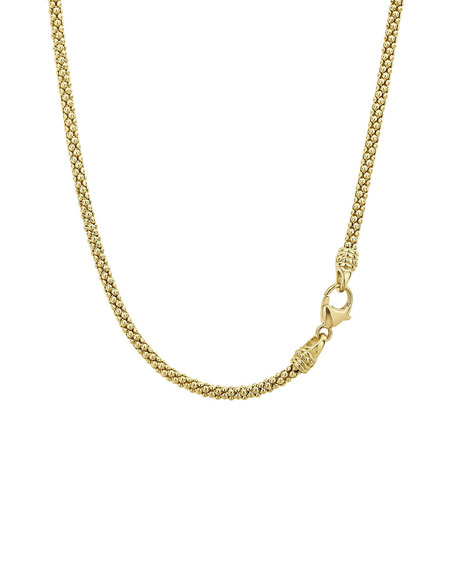 Image 3 of 4: Caviar 18k Gold Tube Necklace