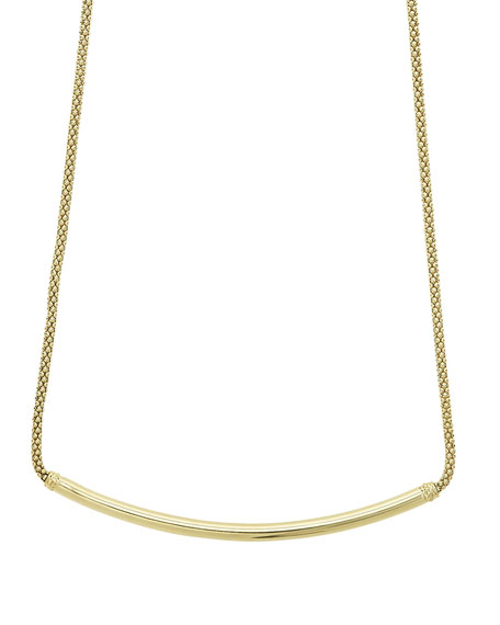 Image 1 of 4: Caviar 18k Gold Tube Necklace