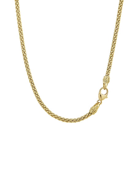 Image 3 of 4: Lagos 18k Gold Caviar 3mm Panna Ball Bubble Necklace