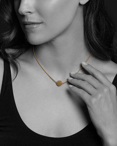 Image 4 of 4: Lagos 18k Gold Caviar 3mm Panna Ball Bubble Necklace