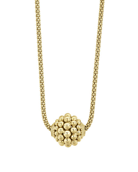 Image 1 of 4: Lagos 18k Gold Caviar 3mm Panna Ball Bubble Necklace