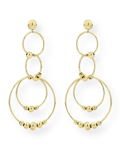 Image 2 of 3: Lagos Caviar 18k Gold 4-Circle Drop Earrings