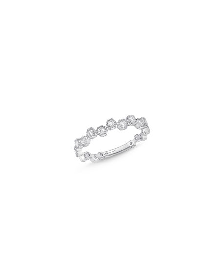 Memoire Stackables 18k White Gold Scattered Diamond Ring