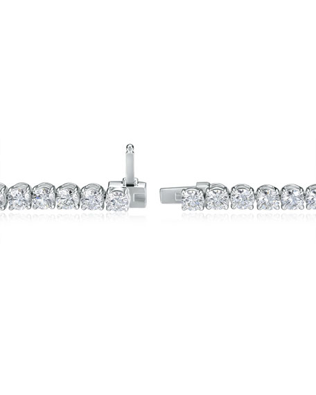 Image 4 of 4: Memoire 18k White Gold Diamond Tennis Bracelet, 5.77tcw