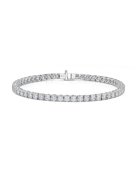 Image 1 of 4: Memoire 18k White Gold Diamond Tennis Bracelet, 5.77tcw