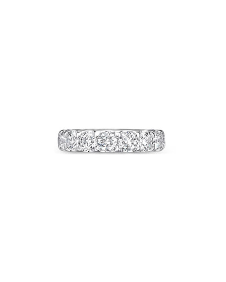 Image 2 of 3: Memoire Odessa 18k White Gold Diamond Eternity Band, Size 6.5