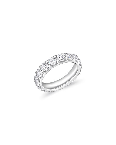 Image 1 of 3: Memoire Odessa 18k White Gold Diamond Eternity Band, Size 6.5