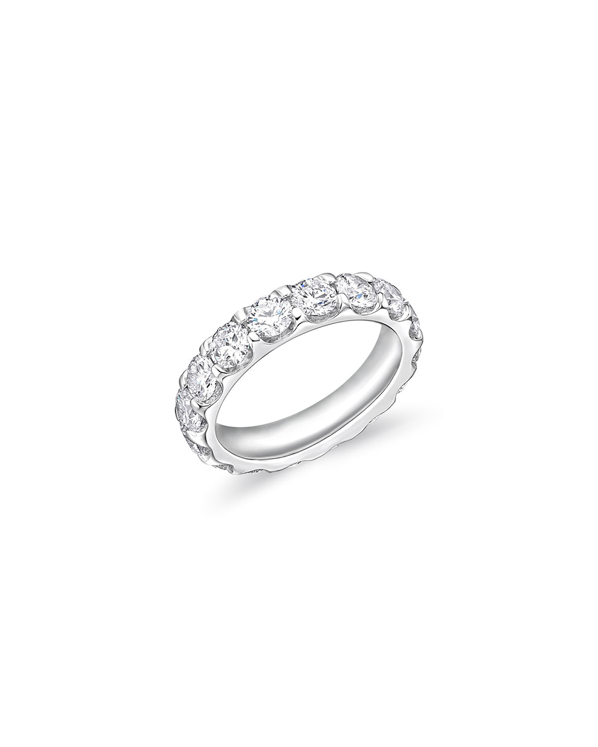 Memoire Odessa 18k White Gold Diamond Eternity Band, Size 6.5