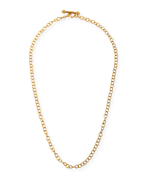 Elizabeth Locke 19k Tiny Volterra Link Necklace