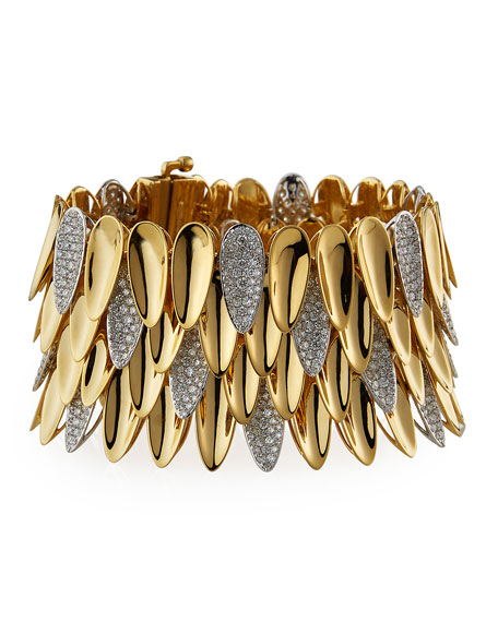 SUTRA 18K Yellow Gold Kashmir Diamond 1-Row Bracelet