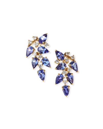 18k Mila Tanzanite/Diamond Earrings
