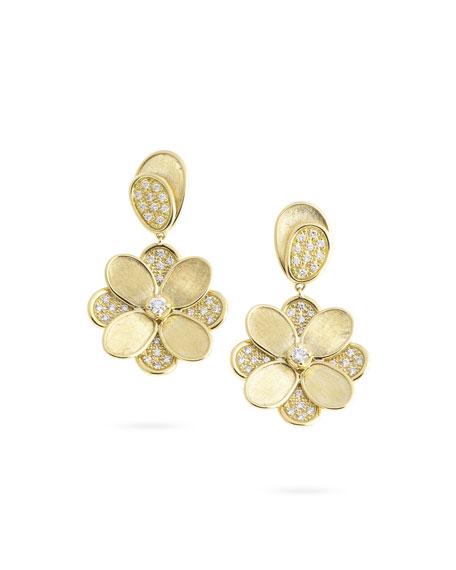 Marco Bicego 18K Yellow Gold Diamond Petali 2-Drop Earrings