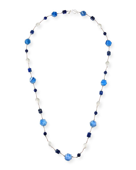 "Margo Morrison Long Kyanite & Lapis Necklace, 35"""