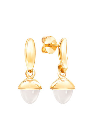 Tamara Comolli Mikado Flamenco 18k Yellow Gold Sand Moonstone Earrings