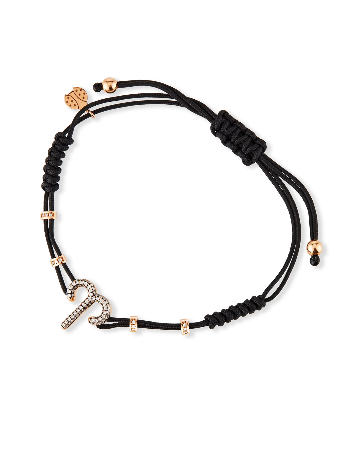 Pippo Perez 18k Pink Gold Diamond Aries Pull-Cord Bracelet