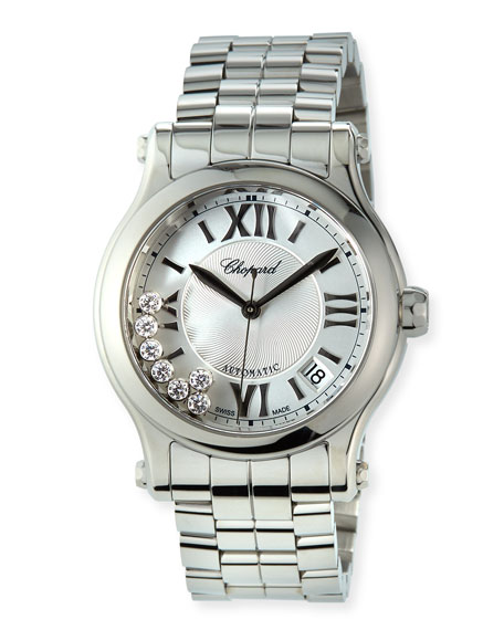 Image 1 of 4: Chopard Happy Sport Automatic Stainless Steel Bracelet Watch