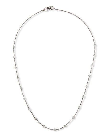 "Coomi 14K WHITE GOLD FLOATING DIAMOND NECKLACE, 18""L"