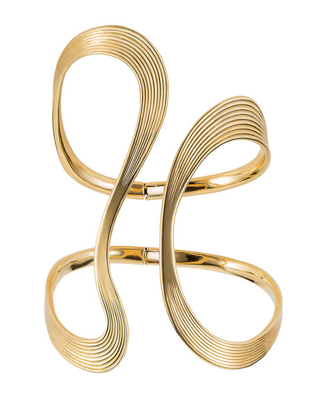 Fernando Jorge Stream Lines 18k Open Bracelet