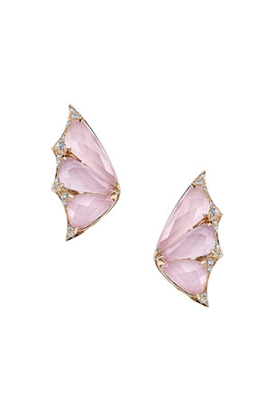 Stephen Webster Crystal Haze Pink Opal and Quartz Earrings