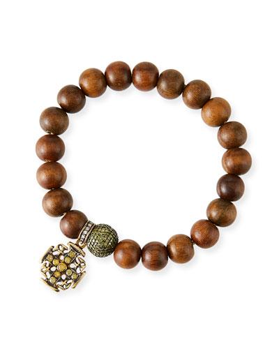 Sandalwood Bead Bracelet