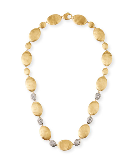 Marco Bicego Large Siviglia 14k Gold Bead Collar Necklace with Diamonds