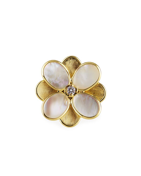 Image 1 of 3: Marco Bicego Petali Mother-of-Pearl Ring, Size 7