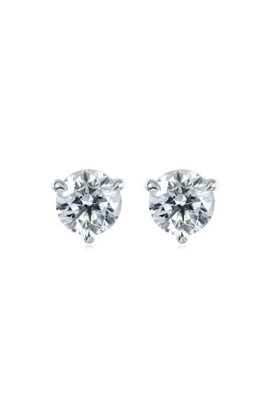 Memoire Platinum Diamond Post Earrings, 1.5tcw.