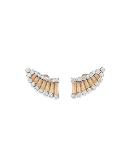 Staurino 18k Yellow Gold Diamond Wing Earrings