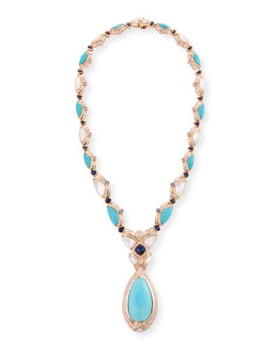 18k Sleeping Beauty Turquoise Pendant Necklace