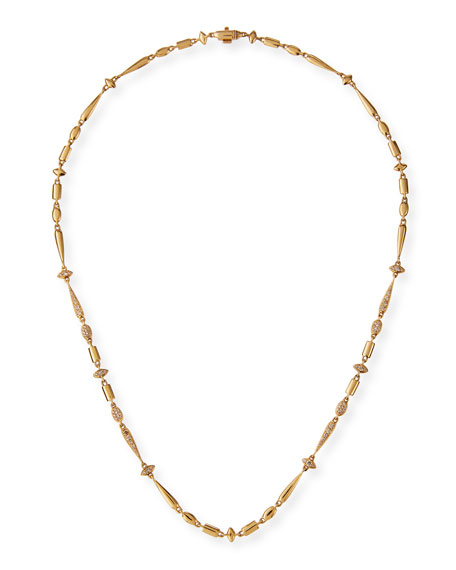 Image 1 of 3: Etho Maria 18k Brown Diamond Station Necklace