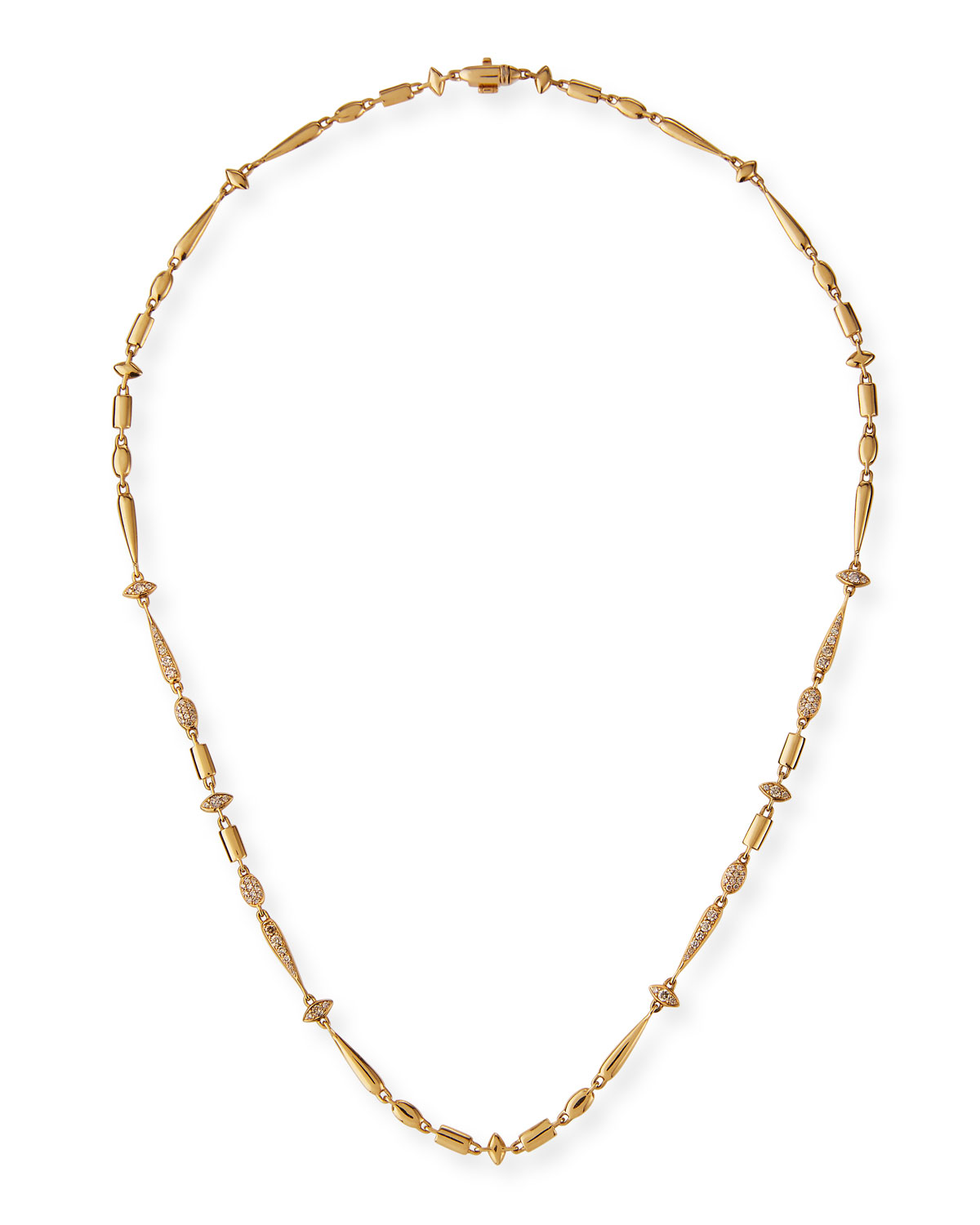 Etho Maria 18k Brown Diamond Station Necklace