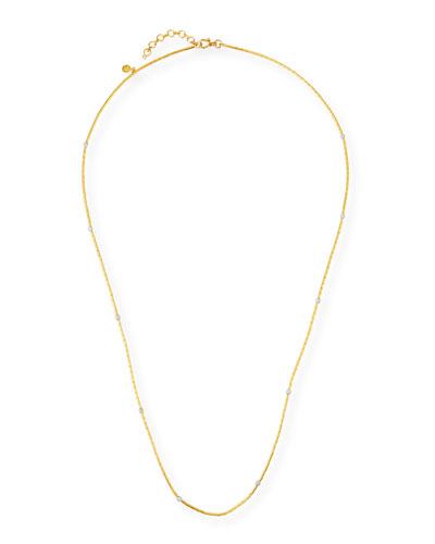 24K Vertigo Long Diamond Necklace  38L