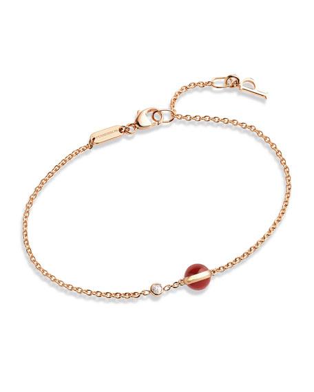Possession Carnelian & Diamond Station Bracelet