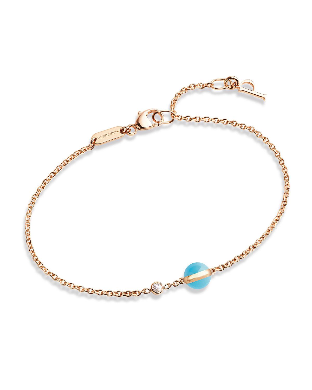 Piaget Possession Turquoise & Diamond Station Bracelet GI2Z4Pp